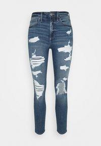 Hollister Co. - CURVY MED SHRED - Jeans Skinny Fit - blue - 3