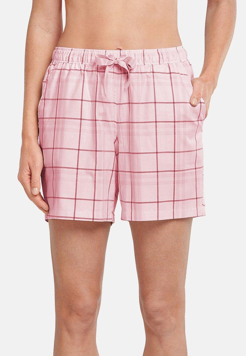Schiesser - Pyjama bottoms - rosa gemustert