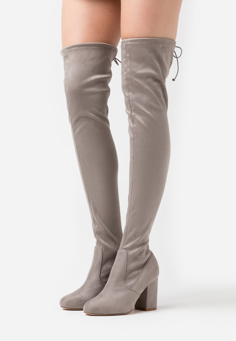 Even&Odd Wide Fit - High heeled boots - light grey