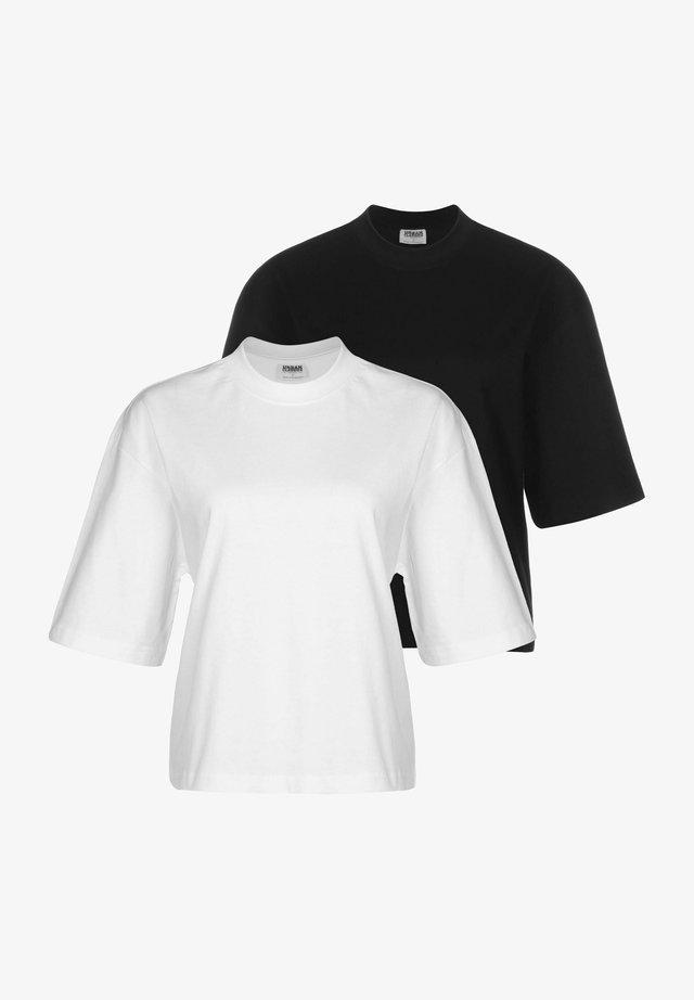2-PACK - T-shirt basic - white black