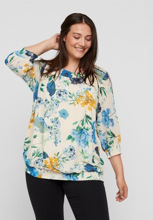 AND SMOCK DETAIL - Blouse - aop flower