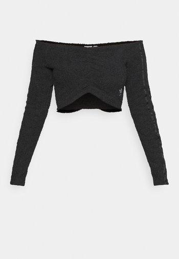 CROP ORIGINALS - T-shirt à manches longues - black