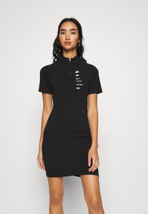 DRESS - Jersey dress - black/white