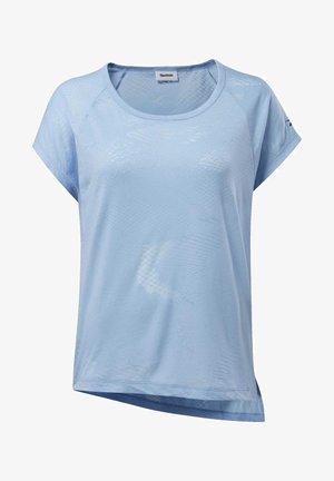 BURNOUT TEE - Print T-shirt - blue