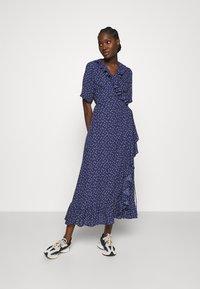 JUST FEMALE - DAISY MAXI WRAP DRESS - Maxi dress - patriot blue - 0