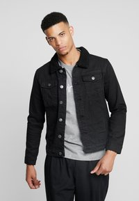 Burton Menswear London - BORG - Giacca di jeans - black - 0