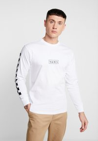 Vans - EASY BOX CHECKER - T-shirt à manches longues - white/black - 0