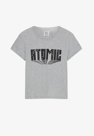 T-shirt con stampa - grey melee