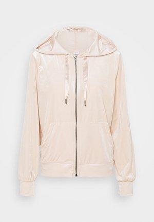 VIVELVETTA ZIP HOODIE - Zip-up hoodie - peach blush