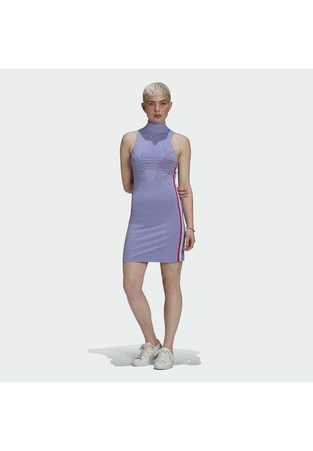 ADICOLOR TRICOLOR TANK DRESS - Etui-jurk - purple