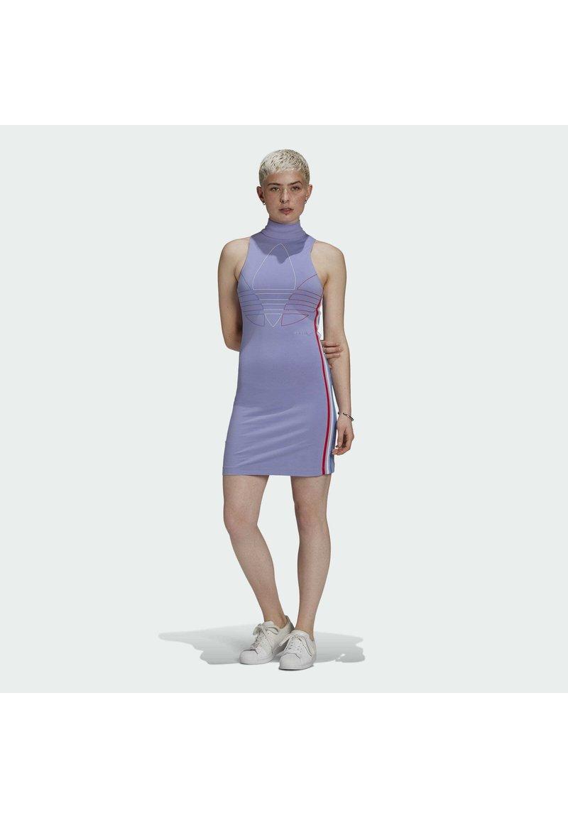 adidas Originals - ADICOLOR TRICOLOR TANK DRESS - Vestido de tubo - purple
