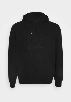 EMBROIDERY APPLIQUE HOODIE - Hoodie - black
