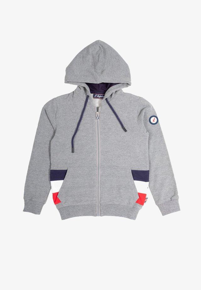 Zip-up hoodie - grigio melange