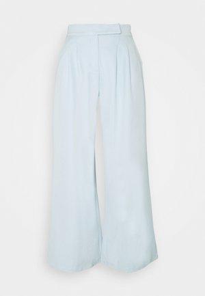 HIGH WAIST WIDE LEG TROUSERS - Trousers - blue