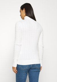 Superdry - CROYDE CABLE ROLL NECK - Jumper - winter white - 2
