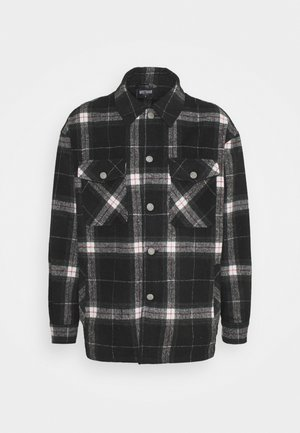 BOO CHECKED UNISEX - Summer jacket - black