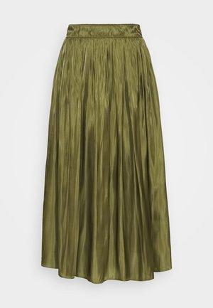 KURZ - Áčková sukně - deep green
