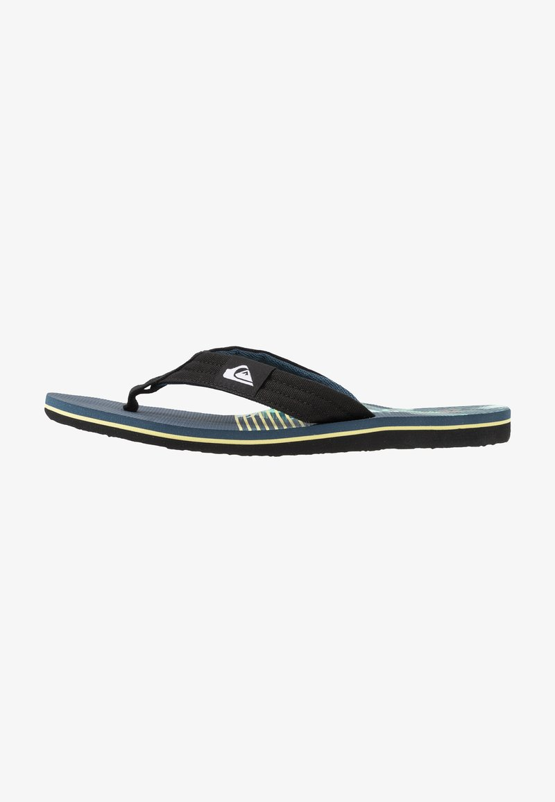 Quiksilver - MOLOKAI LAYBACK - Pool shoes - black/blue/green