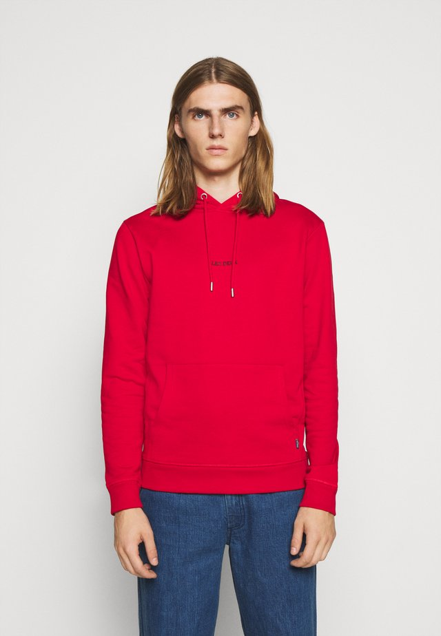 LENS HOODIE - Sweat à capuche - red/black