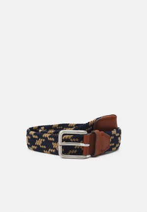 JACSPRING BELT - Braided belt - crockery/navy blazer