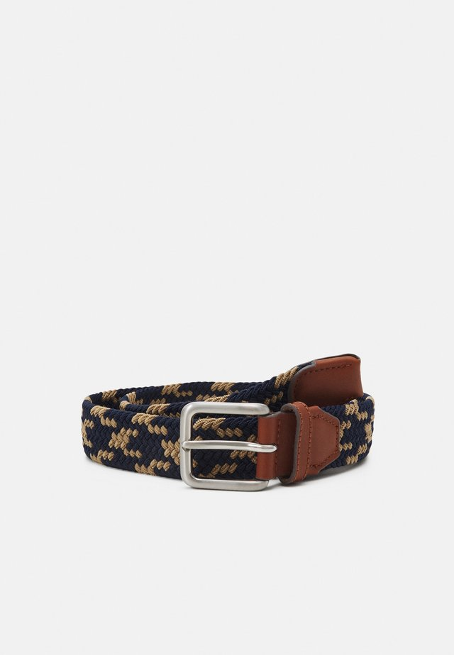 JACSPRING BELT - Pletený pásek - crockery/navy blazer