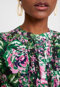 Rich & Royal - DRESS WITH PIN TUCKS - Denní šaty - multi-coloured/black/neon pink - 6