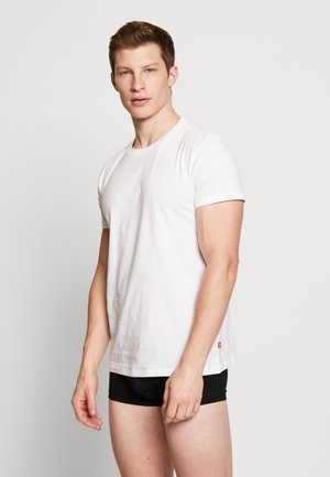 SOLID CREW 2 PACK - Undershirt - white