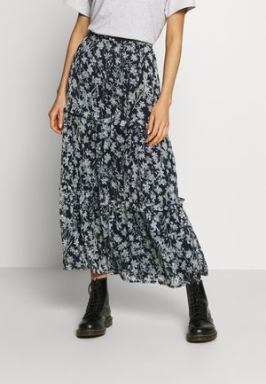 MARGAUX SKIRT - Falda larga - navy