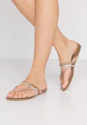 Sandály s odděleným palcem - multicolor/olive