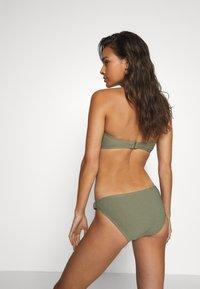 MICHAEL Michael Kors - DECADENT TEXTURE LOGO SIDE RING BOTTOM - Bikini bottoms - army green - 2