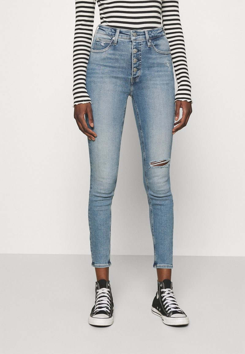Calvin Klein Jeans - HIGH RISE ANKLE - Jeans Skinny Fit - denim medium