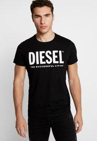 Diesel - T-DIEGO-LOGO T-SHIRT - Print T-shirt - black - 0