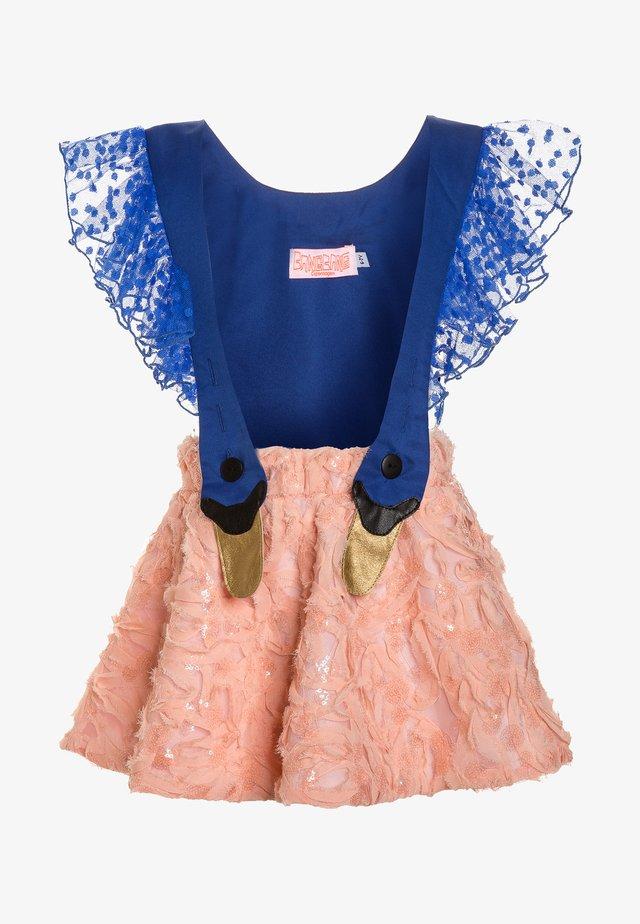 BIRD GIRL FRILL - Cocktailkleid/festliches Kleid - pink/blue