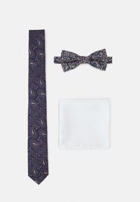 Jack & Jones - JACSHINNY NECKTIE SET - Cravatta - dark blue/gold-coloured - 1
