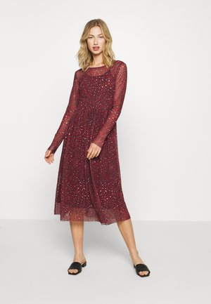ONLKARMA O NECK DRESS - Day dress - dark red