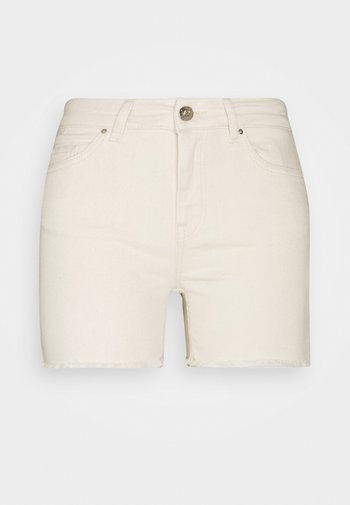 ONLBLUSH - Shorts di jeans - ecru