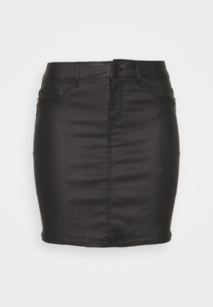 VMSEVEN MR SHORT COATED SKIRT - Minisukně - black