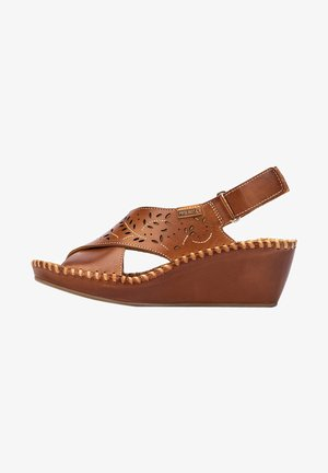 Wedge sandals - brandy