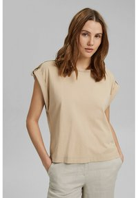 edc by Esprit - Basic T-shirt - sand - 0