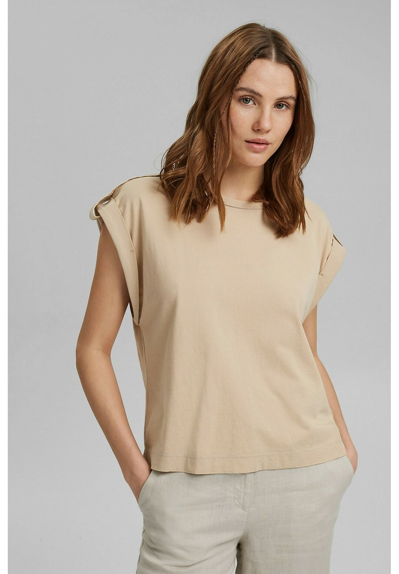 edc by Esprit - Basic T-shirt - sand