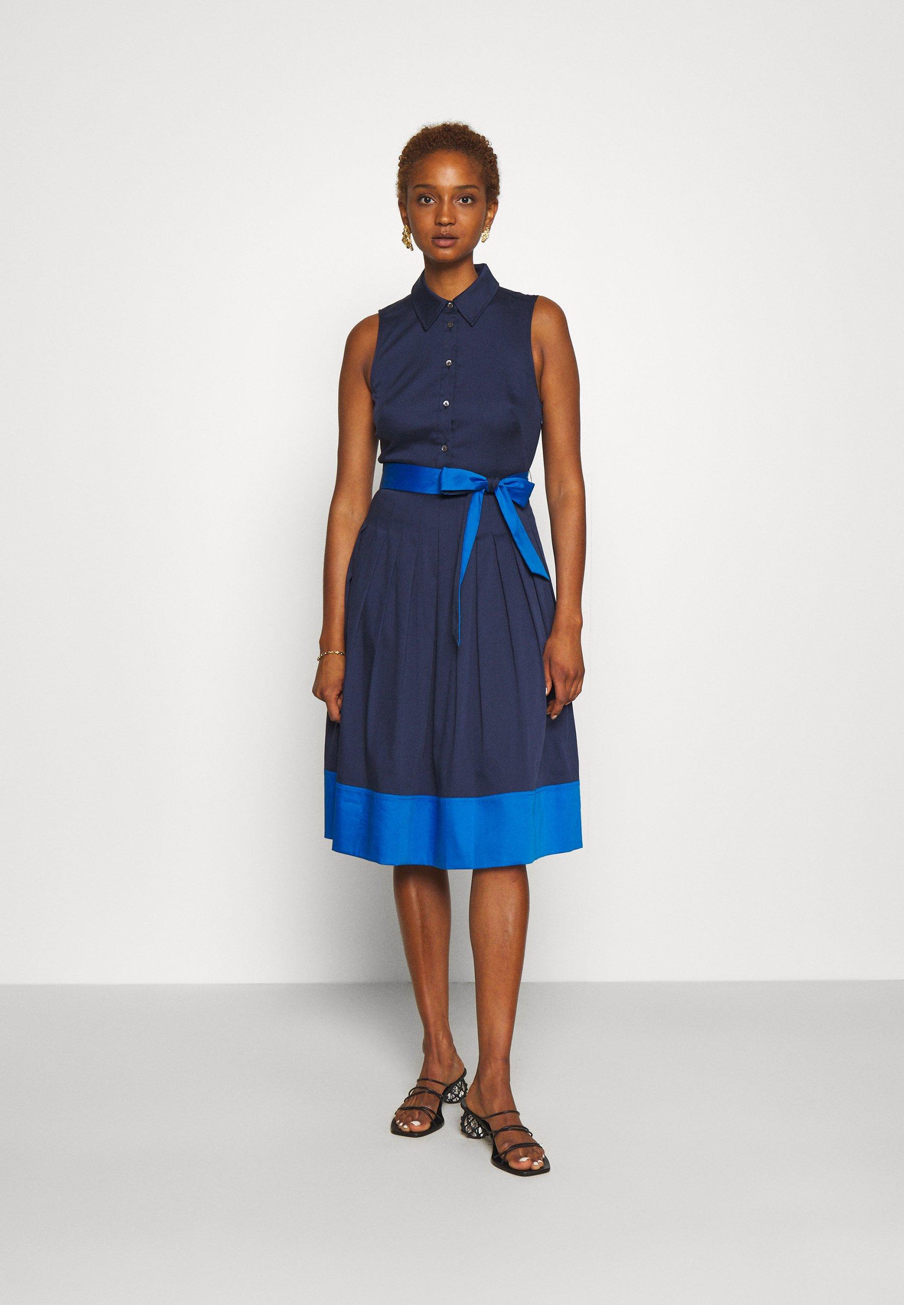Women POPLIN COLORBLOCK DRESS - Shift dress