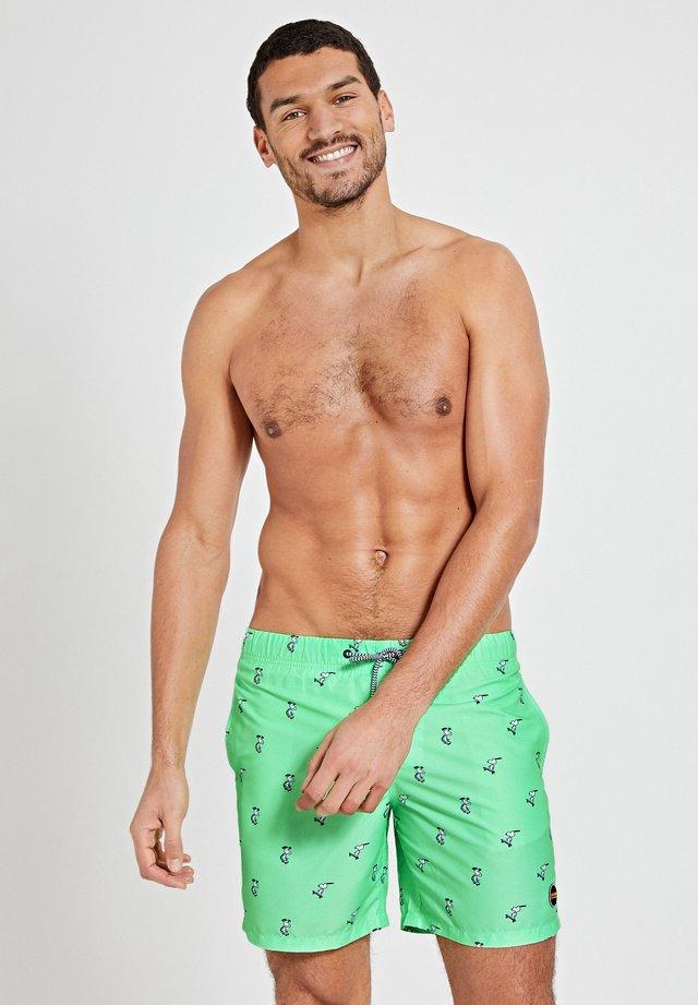 SNOOPY HAPPY SKATER - Shorts da mare - new neon green