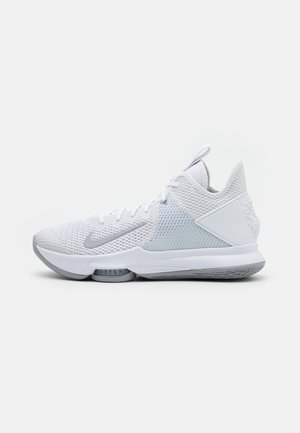 LEBRON WITNESS IV - Basketball shoes - white/wolf grey/pure platinum