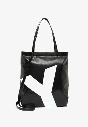 JESSEY - Tote bag - black/white