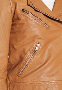 Vero Moda - VMMILANO JACKET - Leather jacket - cognac - 3