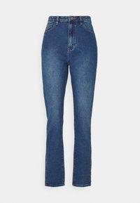 Missguided Petite - WRATH HIGHWAISTED SPLIT - Straight leg jeans - blue - 0