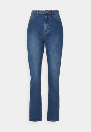 WRATH HIGHWAISTED SPLIT - Straight leg jeans - blue