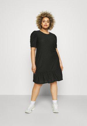 CARDIDDE PUFF KNEE DRESS - Denní šaty - black