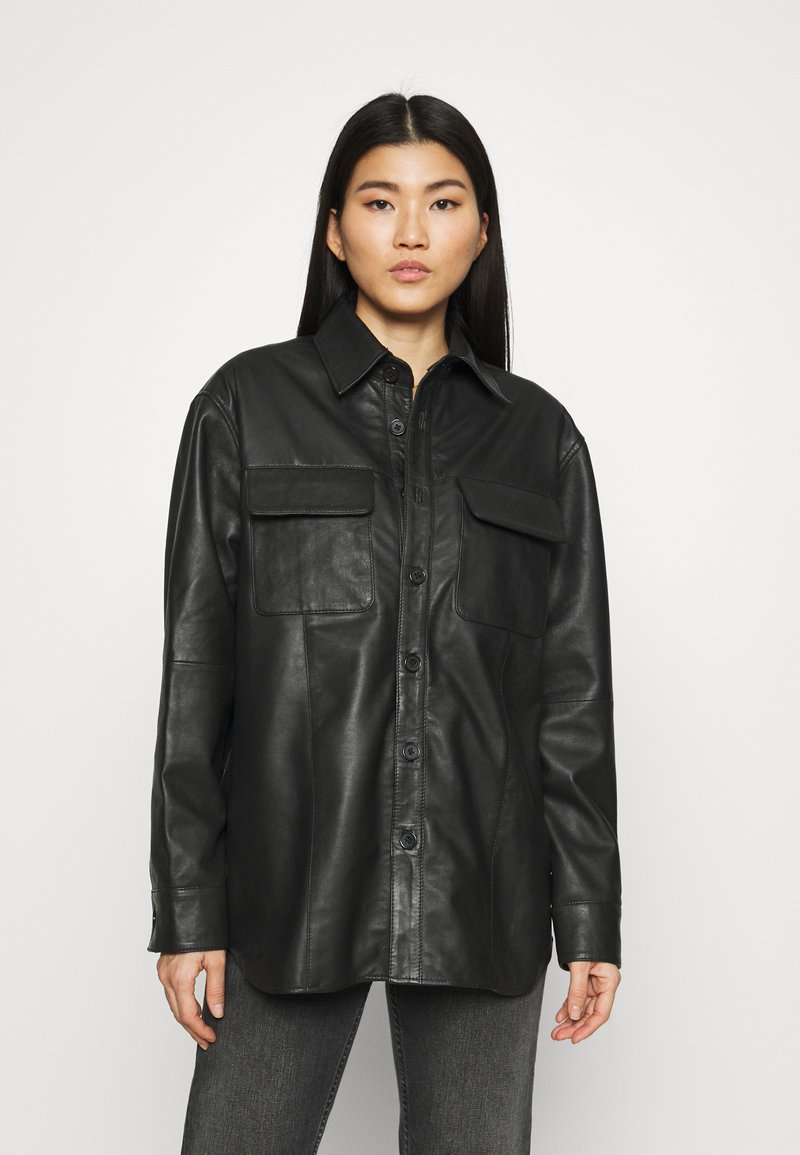 Deadwood - SHORELINE - Short coat - black