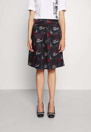 A-line skirt - nero/log grey